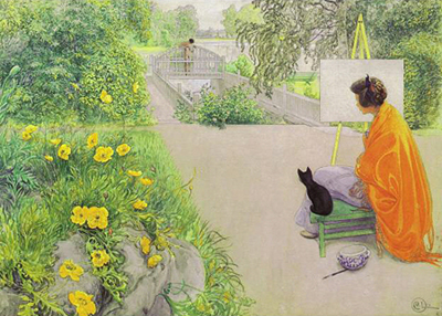 Carl Larsson - The bridge - 1912