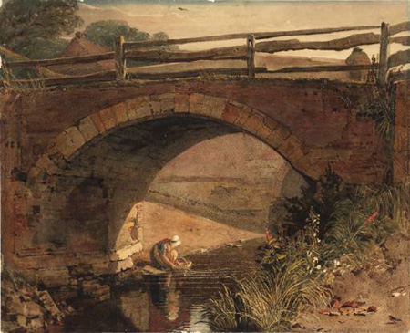 Peter De Wint - Bridge over a Branch of the Wytham,Lincolnshire -