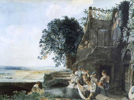 Ducros - Washerwomen in Tivoli - about 1780
