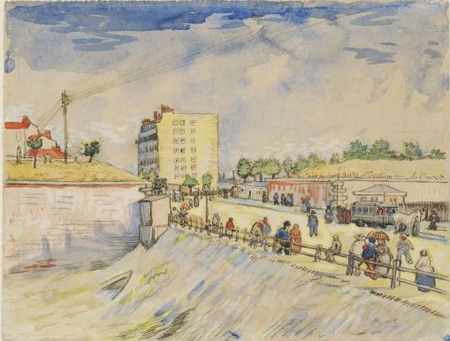 Vincent van Gogh -  Gate in the Paris rampe - 1886