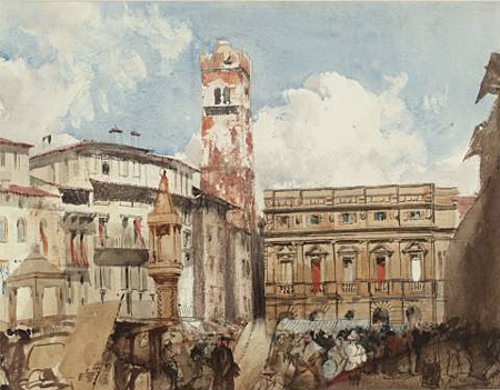Bonington - Verona,Erbs square - about 1826/27