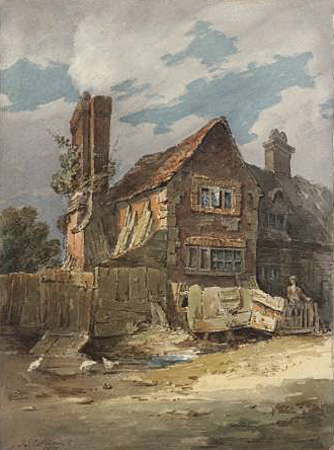 Cotman - House in Epsom - 1800