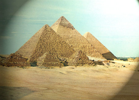 Egypt-The pyramidis of Cheope,Chefren,Micerino