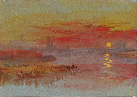 Turner - The scarlet sunset -  1830/40