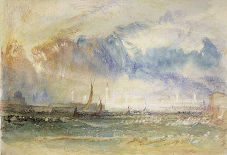 Joseph Mallord William Turner -  Venice,Storm at sunset - about 1840/50